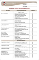 Business requirements tools and templates checklist for common requirement risk factors accmission