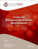Guide for Managing and Writing Good Requirements